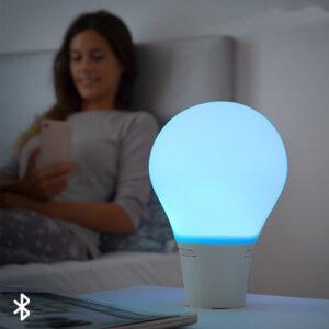 Lampada a forma di Lampadina LED Touch in Silicone con Altoparlante Silitone