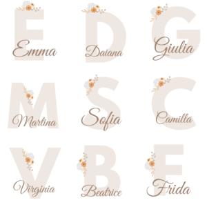 Piccole Sognatrici, Set 3 Stampe Personalizzate con Nome, Stampe per la stanza delle Bimbe o Neonate, Nursery Wall Art