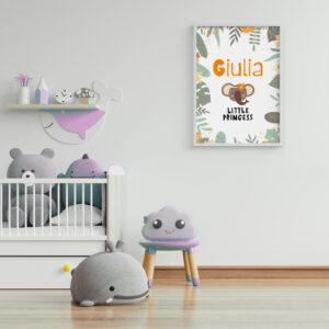 Elefantina Jungla, Stampa personalizzata con nome