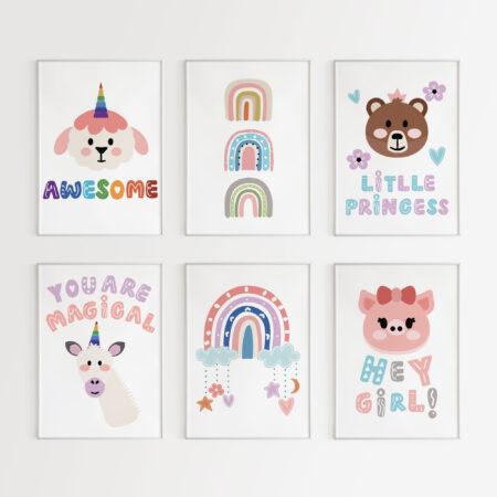 Cute Animals per Lei – Stampe per la Cameretta della Bambina
