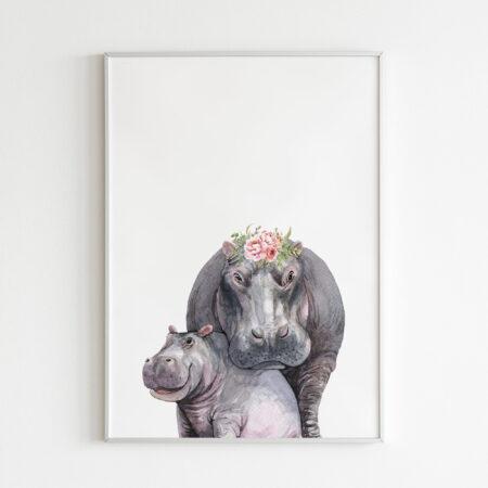 "Ippopotamo ""Animals Mother and Son"""