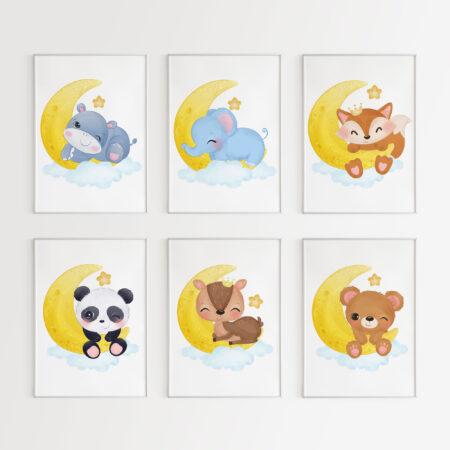 Animali Carini Buonanotte – stampe per la camera dei bambini