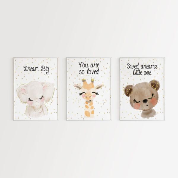 Dream Big You are so Loved, Set 3 Stampe
