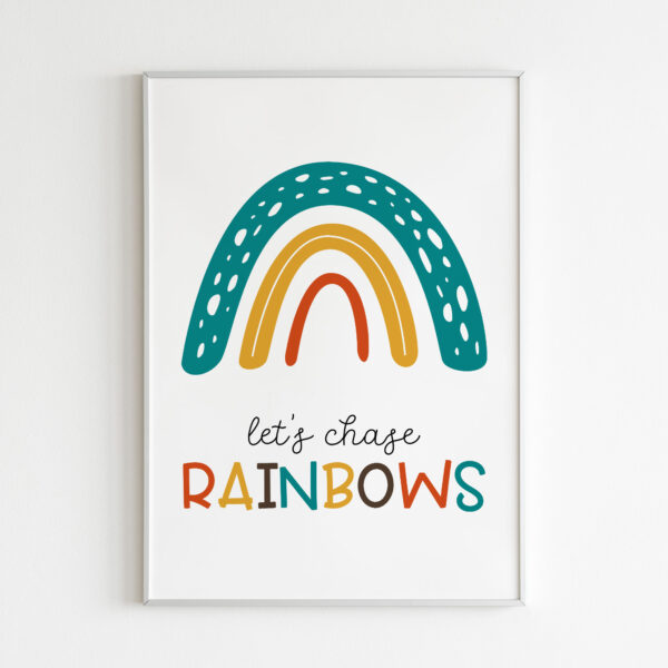 lets chase rainbow stampa bambini