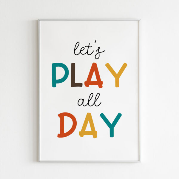 lets play all day stampa camera bambini