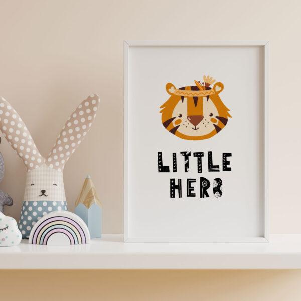 little hero stampa cameretta bambini giungle tigre