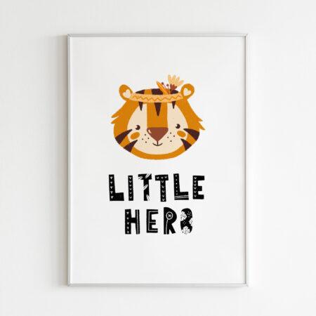 Little Hero Tigre Giungla – stampa cameretta bambino