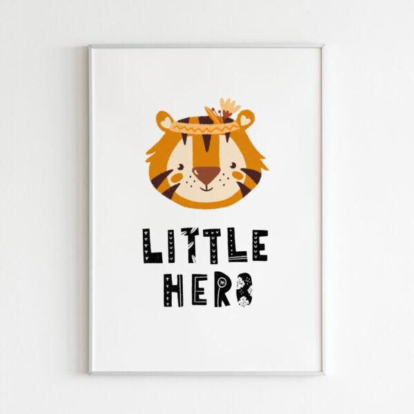 little hero tigre giungle stampa cameretta bambino