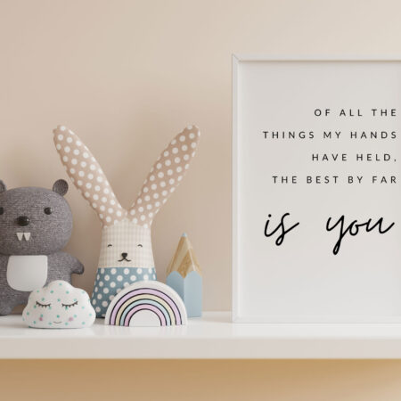 Of all the things my hands have held the best by far IS YOU | Stampa