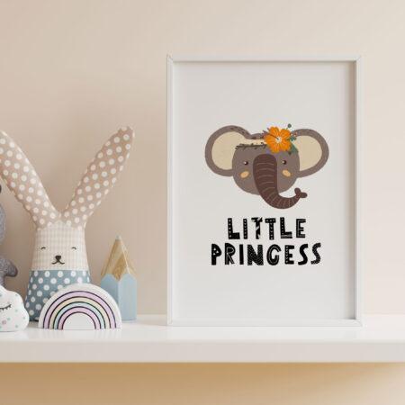 Little Princess Elefante Giungla – stampa cameretta bambina