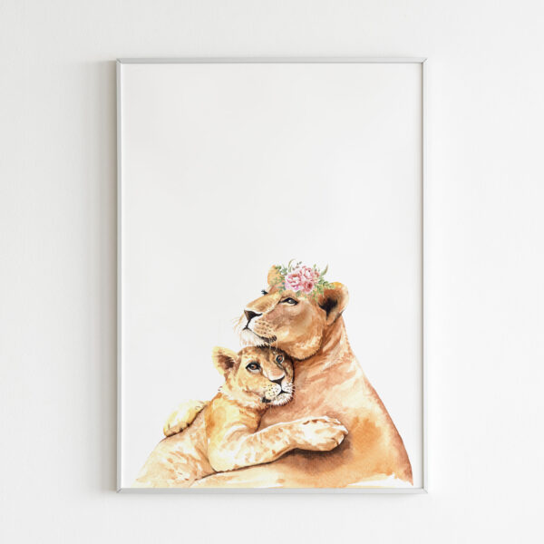 stampa leonessa mother and son nursery cameretta bambini