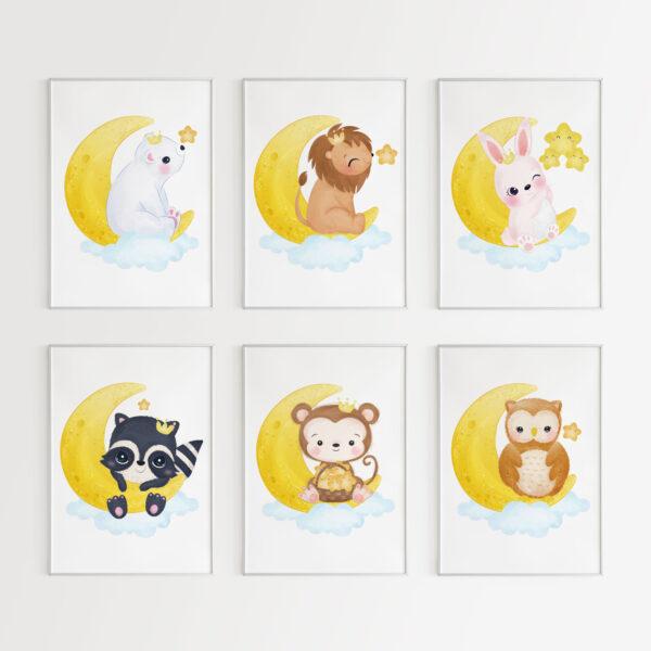 stampe animali per la cameretta dei bimbi