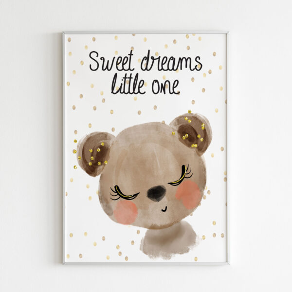 sweet dreams little one stampe bambini orso