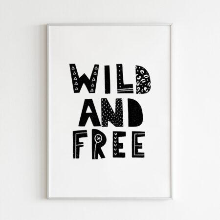 Wild and Free Giungla Safari – stampa cameretta dei bambini