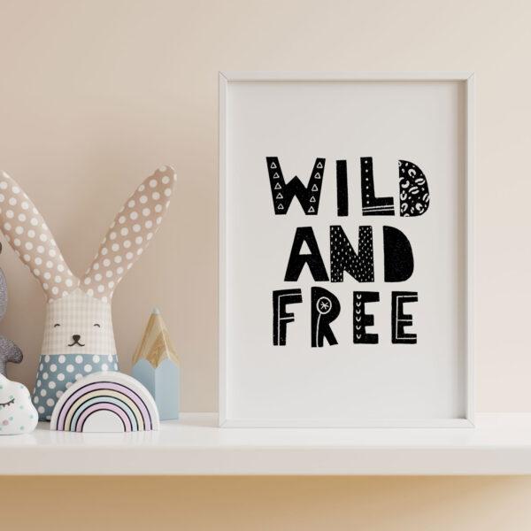 wild and free stampa safari per bambini