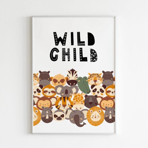 wild child giungla stampa camera bambini